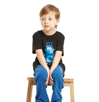 BOYS PYJAMA KNITTED  TOP SHORT SLEEVES WITH LONG PANTS