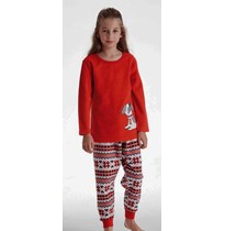 Girls fleece pyjama long sleeves with long pants