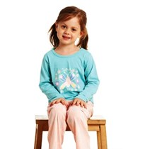 GIRLS PYJAMA KNITTED TOP LONG SLEEVES WITH LONG PANTS