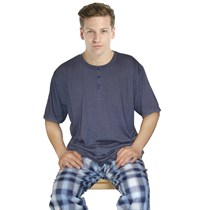 MENS SHORT SLEEVES WITH WOVEN LONG PANTS